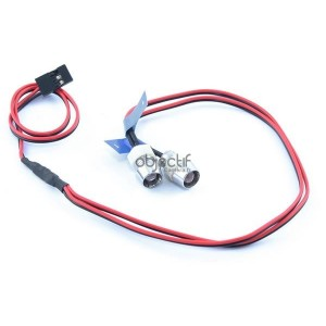 Kit 2 feux LED rouge pour voiture RC FAST199R