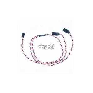 Câble 60 cm extension Y pour 2 kits feux LED