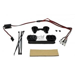 Kit 4 feux composé de LED 2 blanches + 2 rouges pour voiture RC 1/10