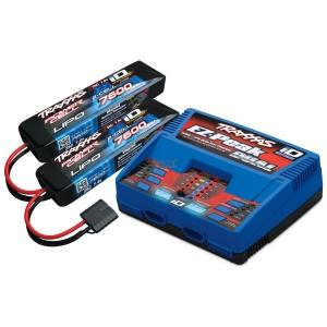 Pack chargeur EZ Peak DUAL 2972G + 2 X LiPo 2S 7600mAh 2869X prise TRAXXAS 2991G
