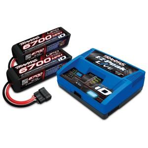 Pack chargeur EZ Peak LIVE 2971G + 2 X LiPo 4S 6700mAh 2890X prise TRAXXAS 2993G