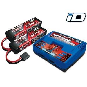Pack chargeur EZ Peak DUAL 2972G + 2 X LiPo 3S 5000mAh 2872X prise TRAXXAS 2990G