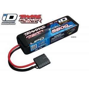 Batterie LiPo 2S 7,4V 5800mAh 25C ID pour voiture TRAXXAS 2843X