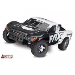 SLASH FOX 1/10 4WD 2,4Ghz BRUSHLESS WIRELESS ID TSM TRAXXAS 68086-4-FOX