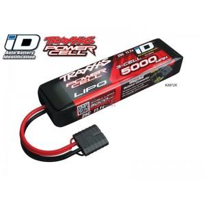 Batterie LiPo 3S 11,1V 5000mAh 25C ID pour voiture TRAXXAS 2872X