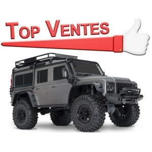 TRX-4 LAND ROVER DEFENDER GRIS 1/10 4WD WIRELESS ID TRAXXAS 82056-4-SILVER