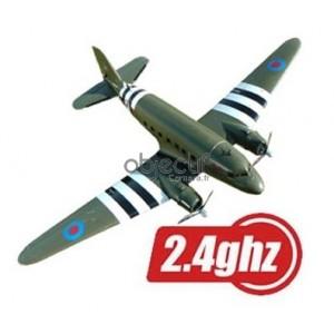 Avion C-47 RAF CAMO TOP GUN PNP