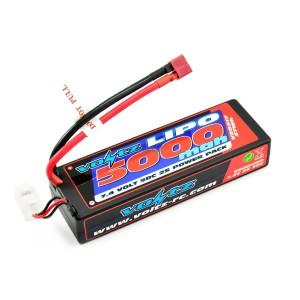 Batterie LiPo 2S 7,4V 5000mAh 50C HARD CASE VOLTZ pour voiture
