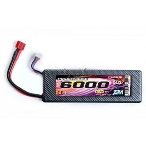 Batterie LiPo 2S 7,4V 6000mAh 45C HARD CASE T2M pour voiture