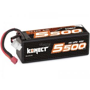 Batterie LiPo 4S 14,8V 5500mAh 60C HARD CASE KONECT pour voiture