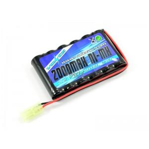 Batterie NiMH 7,2V 2000mAh VOLTZ avec connecteur mini TAMIYA