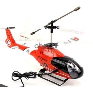 Hélicoptère SWAT TEAM POLICE 3.5 CH ROUGE prêt à voler MODE2