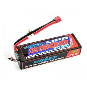 Batterie LiPo 2S 7,4V 2500mAh 30C HARD CASE VOLTZ pour voiture