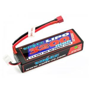 Batterie LiPo 2S 7,4V 3200mAh 40C HARD CASE VOLTZ pour voiture