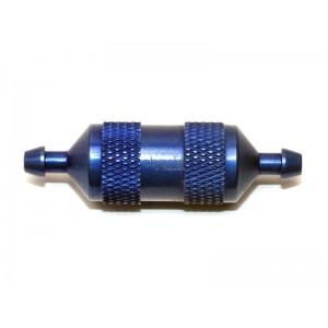 Filtre long à carburant  bleu avec micro-tamis métallique