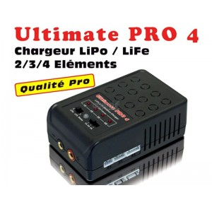 Chargeur MHDPRO ULTIMATE PRO 4 LiPo/LiFe compatible 2S, 3S et 4S