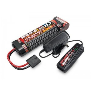 Pack chargeur 2969G + 1 X NiMH 8,4V 3000mAh 2923X prise TRAXXAS 2983G