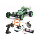 TAMIYA LOT COMPLET RC NEO FIGHTER BUGGY VERT METAL KIT DT-03 47371L