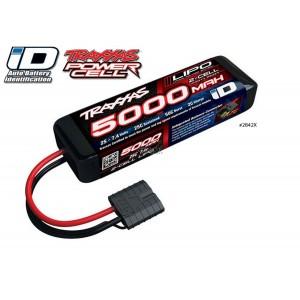 Batterie LiPo 2S 7,4V 5000mAh 25C ID pour voiture TRAXXAS 2842X