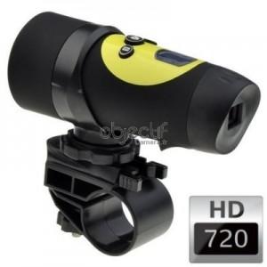 Caméra sport étanche OBJECTIF CAMERA HD 720p couleur jaune