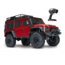 TRX-4 LAND ROVER DEFENDER ROUGE 1/10 4WD WIRELESS ID TRAXXAS 82056-4-RED