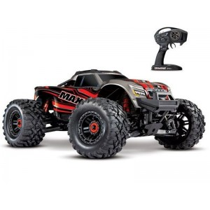 MAXX 4S 1/10 4WD BRUSHLESS WIRELESS ID TSM TRAXXAS 89076-4-RED