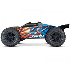 E-REVO 1/10 4WD BRUSHLESS WIRELESS ID TSM TRAXXAS 86086-4-ORNG