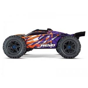 E-REVO 1/10 4WD BRUSHLESS WIRELESS ID TSM TRAXXAS 86086-4-PRPL