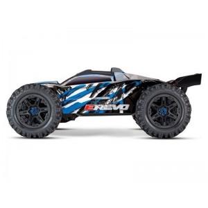 E-REVO 1/10 4WD BRUSHLESS WIRELESS ID TSM TRAXXAS 86086-4-BLUE