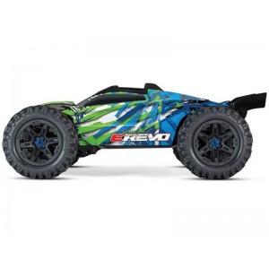 E-REVO 1/10 4WD BRUSHLESS WIRELESS ID TSM TRAXXAS 86086-4-GRN