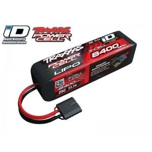 Batterie LiPo 3S 11,1V 8400mAh 25C ID pour voiture TRAXXAS 2878X