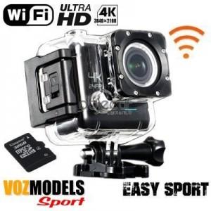 Caméra sport Ultra HD 4K WiFi étanche VOZMODELS Easy Sport 4K 32GB