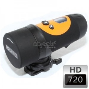 Caméra sport étanche OBJECTIF CAMERA HD 720p couleur orange