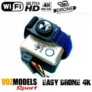 Caméra pour drone Ultra HD 4K WiFi VOZMODELS Easy Drone 4K